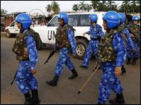 un women peacekeeper