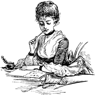woman writing
