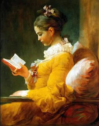 A Young Girl Reading, Jean-Honore Fragonard, 1776
