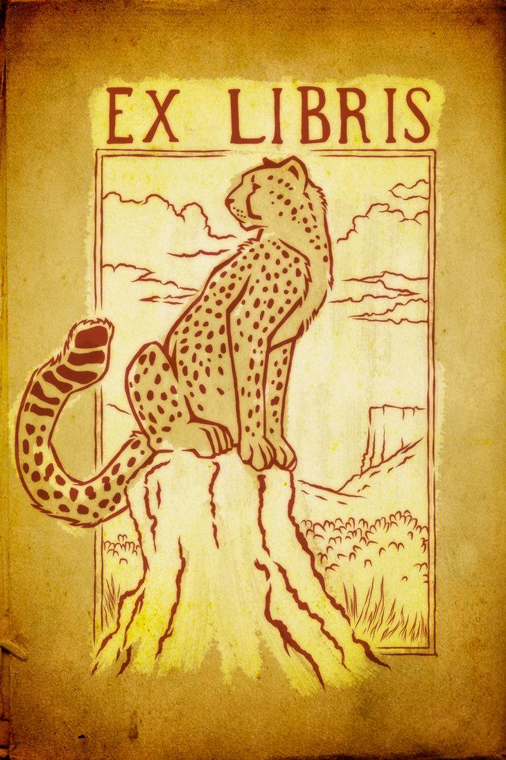 cheetah_ex_libris_by_rootdown-d3ar0qs