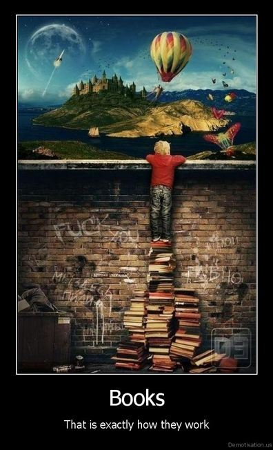 Books; That is exactly how they work